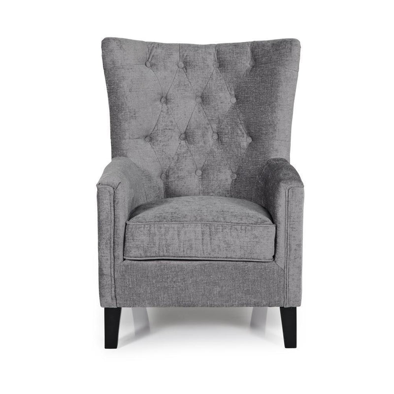 Serene Furnishings Occasional Chair Dunbar Occasional Chair Steel By Serene Furnishings