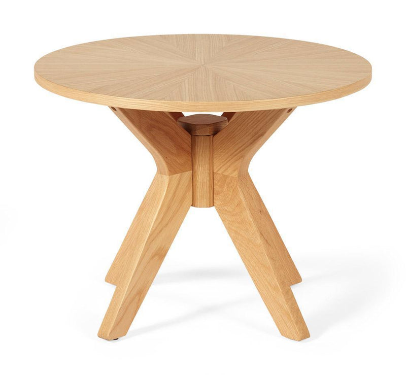 Serene Furnishings Occasional & Side Table Bexley Round Oak Lamp Table By Serene Furnishings