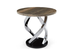 Serene Furnishings Occasional & Side Table Pandora Occasional Lamp Table Chrome By Serene Furnishings