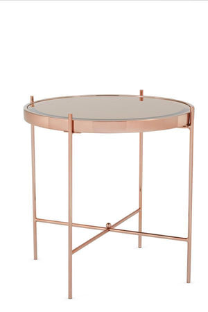 Serene Furnishings Occasional & Side Table Taurus Occasional Lamp Table Rose Gold By Serene Furnishings