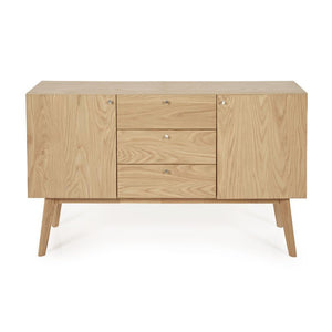 Serene Furnishings Sideboard Finchley Oak 3 Drawer 2 Door Sideboard By Serene Furnishings