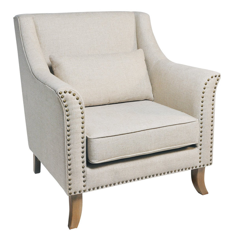 Seville Furniture Armchair Stella Powder Coated 70s Retro Armchair With Cream Cushion