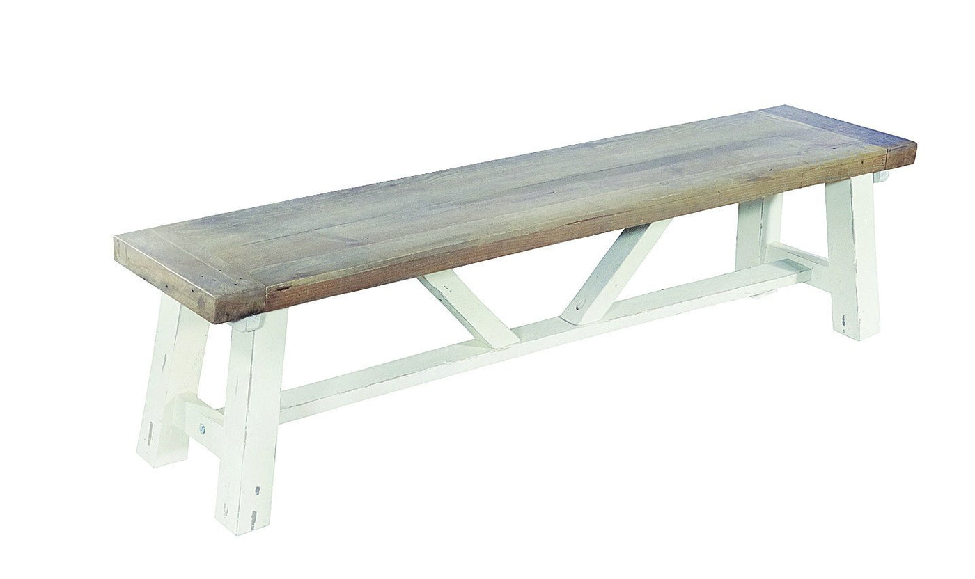 Exceptionnel Seville Furniture Bench Padstow Reclaimed Pine White Distressed Small Dining  Bench