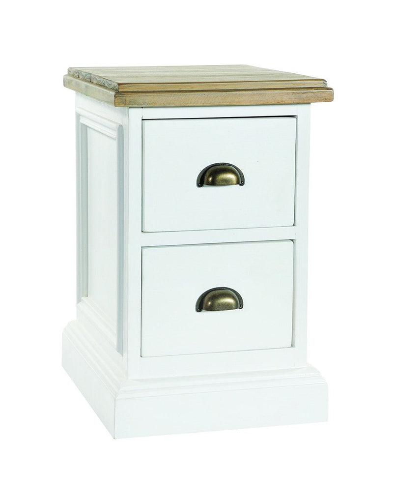 Seville Furniture Chest Of Drawers Polperro White Brush 2 Drawer Chest Bedside Cabinet