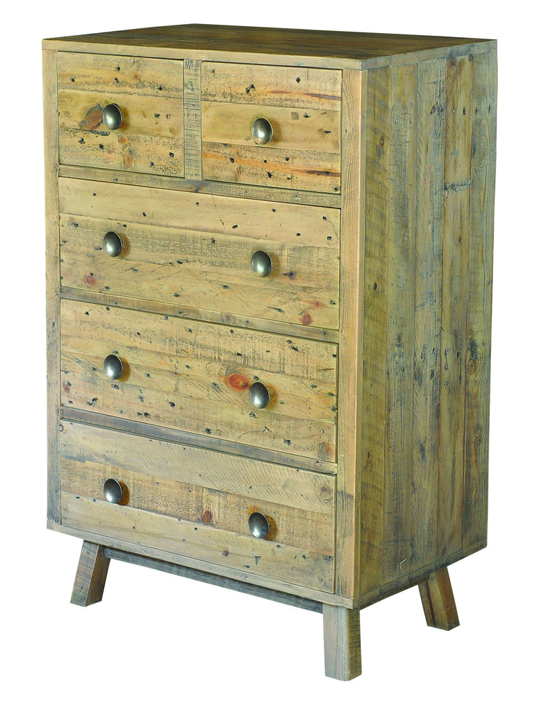 Seville Furniture Chest Of Drawers St Ives Reclaimed Solid Pine 2 Over 3 Chest of Drawer