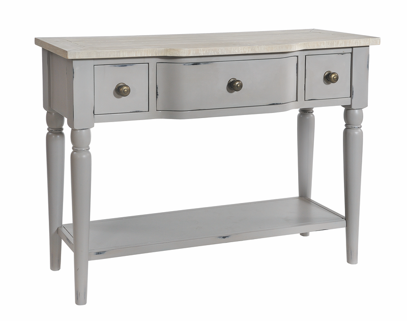 Seville Furniture Console Table Newlyn Grey Distressed Painted Console Table