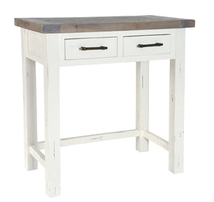 Seville Furniture Console Table Padstow White Distressed Dressing Table with 2 Drawer
