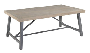Seville Furniture Dining Table Charlestown Metal and Wood Industrial Extendable Dining Table - 160CM
