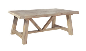 Seville Furniture Dining Table Fowey Reclaimed Pine Driftwood Fixed Top Dining Table 1.6M