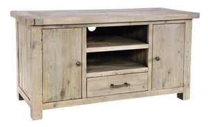 Seville Furniture Media Unit Fowey Reclaimed Pine Driftwood TV Media Unit