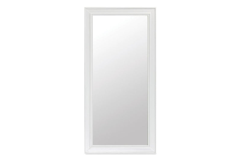 Seville Furniture Mirror Polperro White Hand Distressed Painted Wall Mirror (Hung either way)