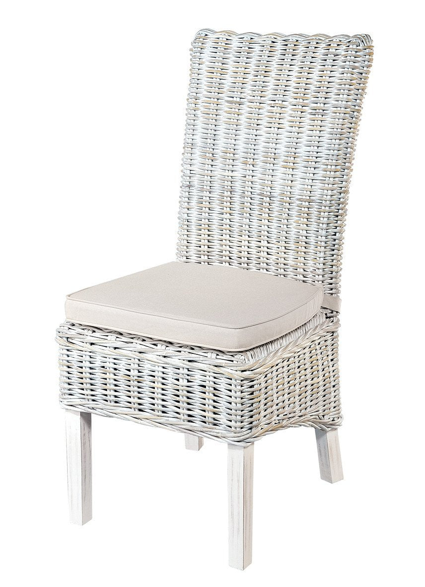 Shop Now Pair Of Roseland White Wash Rattan Dining Chairs With