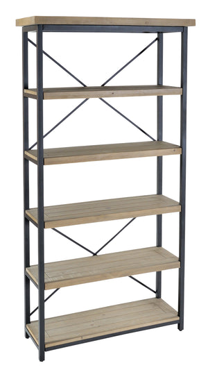 Seville Furniture Shelving Charlestown Metal and Wood Industrial Shelving Unit