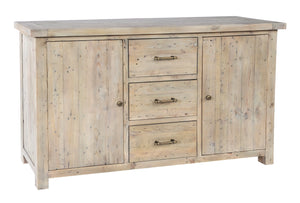 Seville Furniture Sideboard Large Fowey Reclaimed Pine Driftwood Sideboard