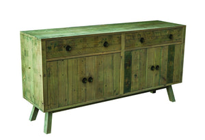 Seville Furniture Sideboard Large St Ives Reclaimed Solid Pine Sideboard 2 Doors 2 Drawers