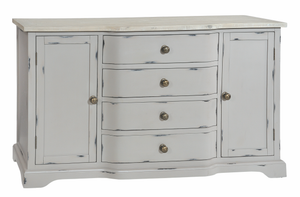 Seville Furniture Sideboard Newlyn Grey Distressed Painted Large Sideboard