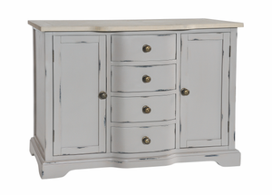 Seville Furniture Sideboard Newlyn Grey Distressed Painted Small Sideboard
