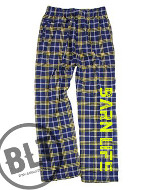 Barn Life Navy & Gold Flannel Pants