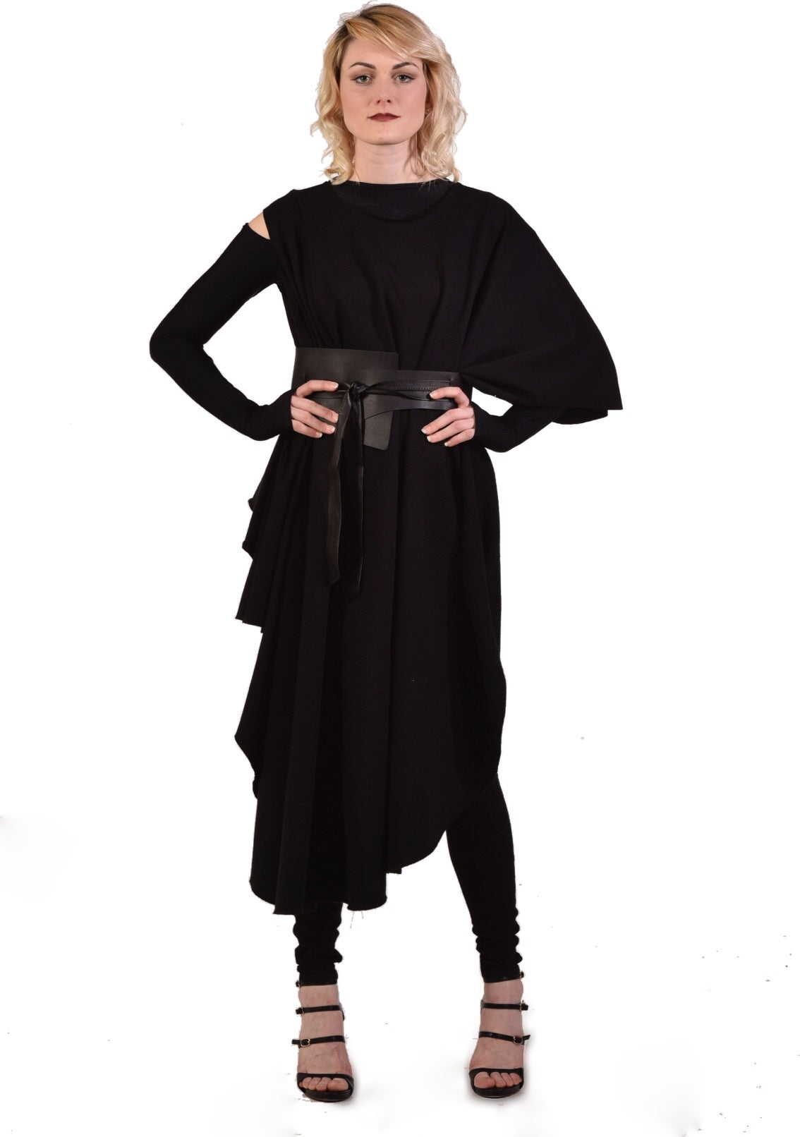 39b2f5e2838842 NOMAD WRAP in Black French Terry - MORPH Clothing