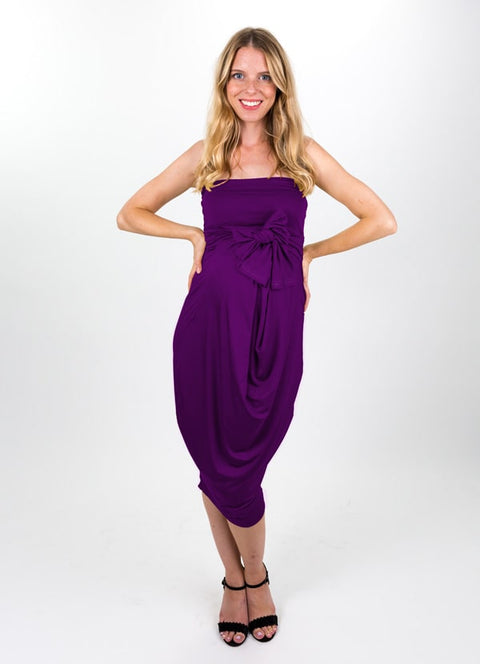 Rich Plum Modal Capsule Dress