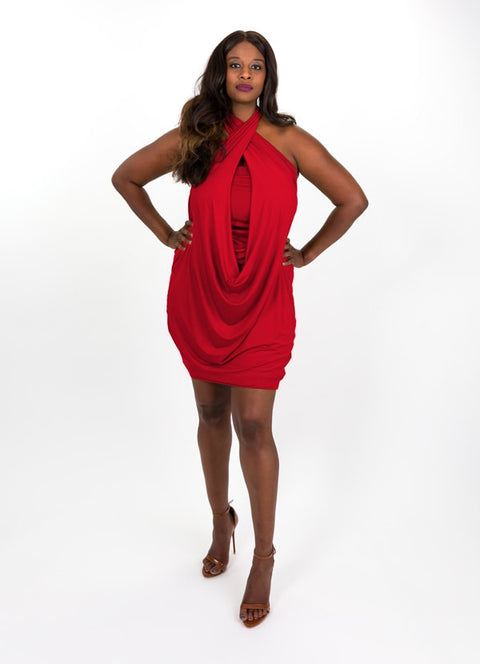 True Red Modal Capsule Dress