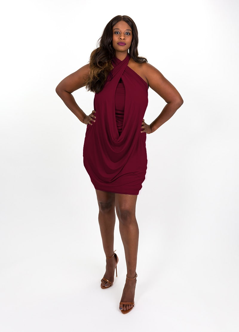 Morph Deep Wine Capsule Dress