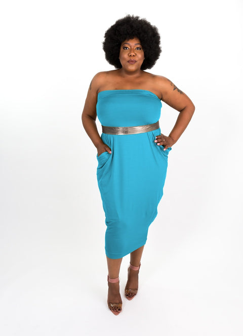 Caribbean Blue Modal Capsule Dress