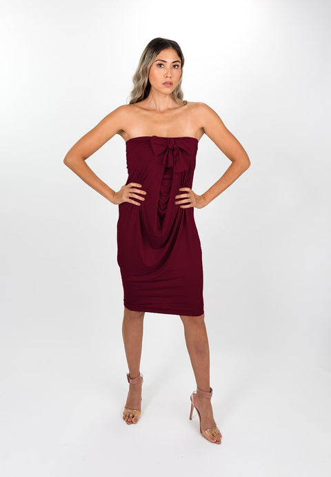 Deep Wine Modal Capsule Dress
