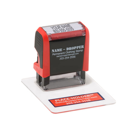 2 LIne NAME-DROPPER™ Marking Kit - Name-Dropper Stamp & Laundry Marker