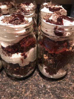 Chocolate eclair cake jar