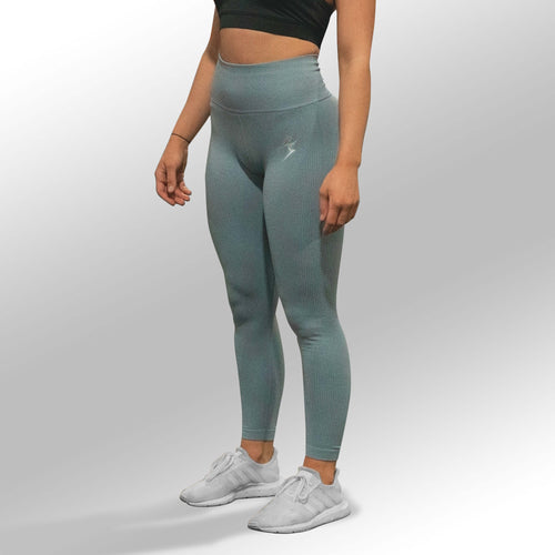 SECOND SKIN SEAMLESS LEGGINGS - SKY BLUE