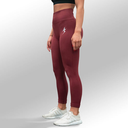 SECOND SKIN SEAMLESS LEGGINGS - RED