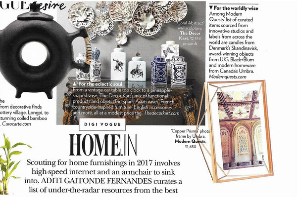 Casa Vogue - Scouting for Home Furnishings in 2017