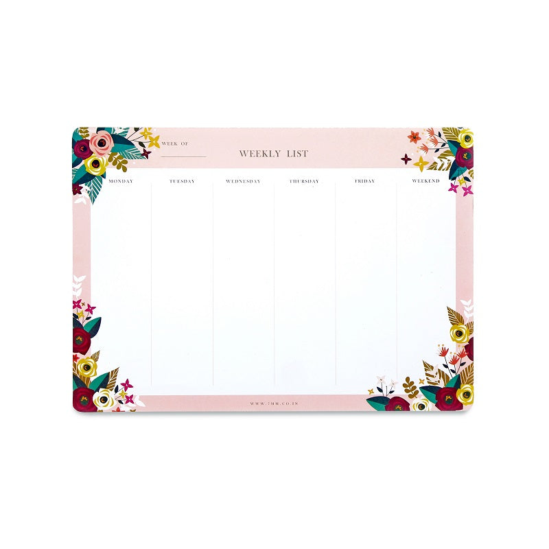 Weekly Deskpad - Blossoms