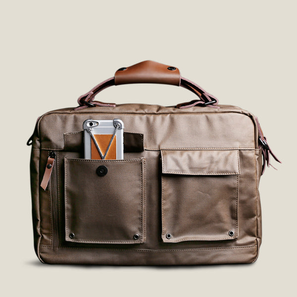 Informal Laptop Bag - Cedar Brown
