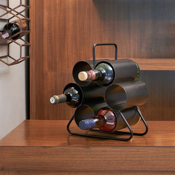 Revolver Wine Rack - Black