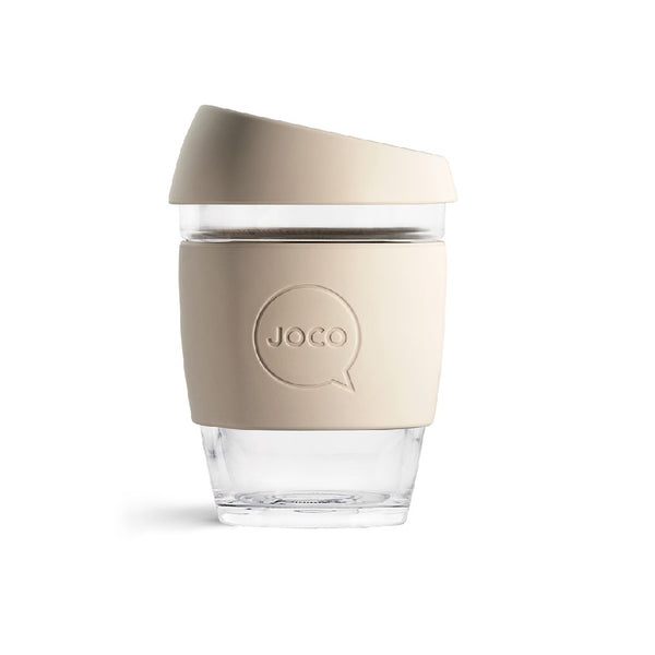 Reusable Glass Cup Medium - Sandstone