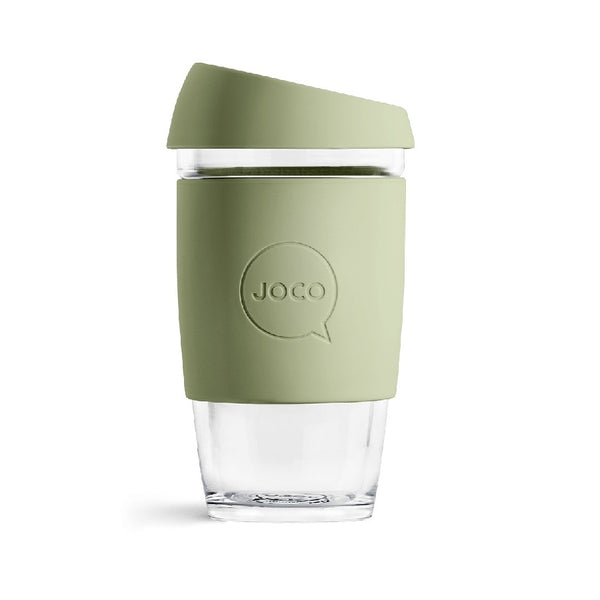 Reusable Glass Cup Large - Army Green