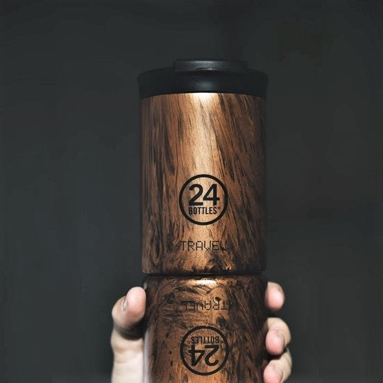 Insulated Stainless Steel Tumbler - Sequoia Wood