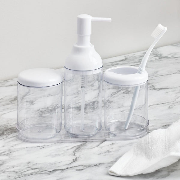 Finn 4 Piece Bathroom Set - White