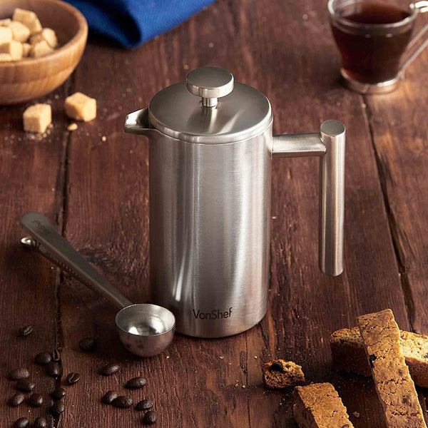 Double Wall French Press With Scoop - Small