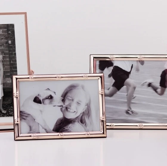 Bamboo Rose Gold Photo Frame - Medium