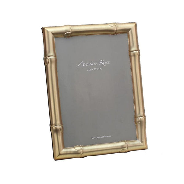 Wide Bamboo Matte Gold Photo Frame - 4x6