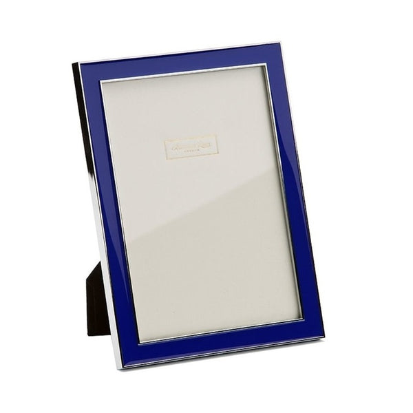 Royal Blue Enamel & Silver Frame - 4x6