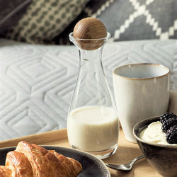 Nature Milk Bottle with Stopper and Base