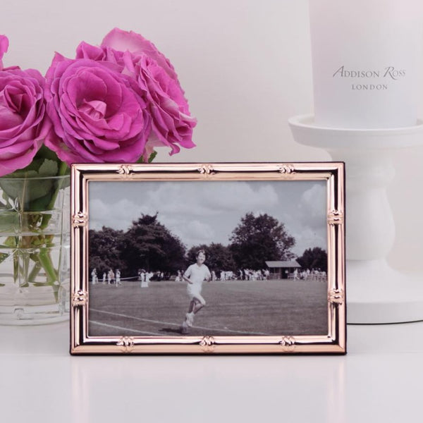 Bamboo Rose Gold Photo Frame - Large