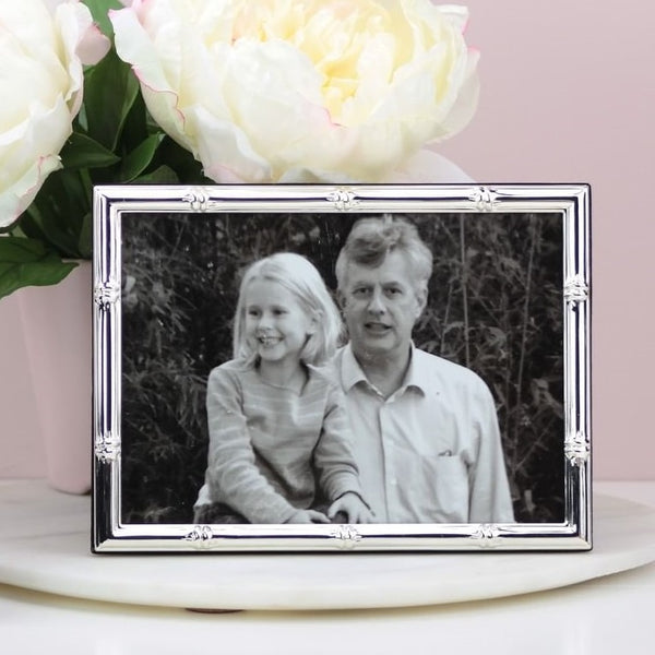 Bamboo Silver Plated Photo Frame - Large