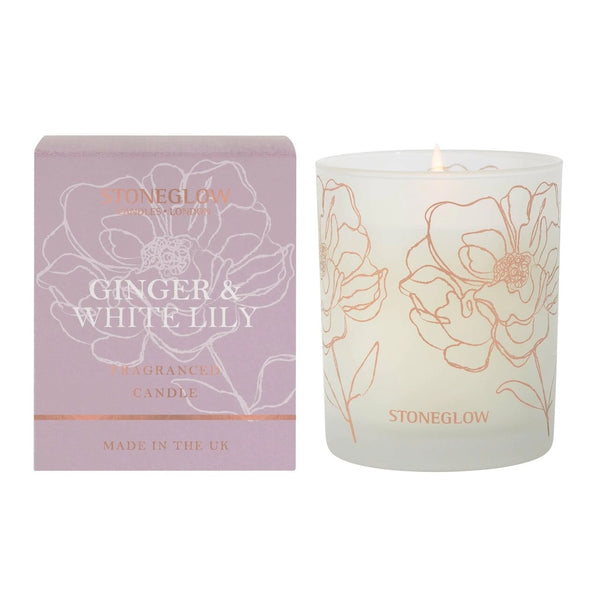 Day Flower Candle - Ginger & White Lily