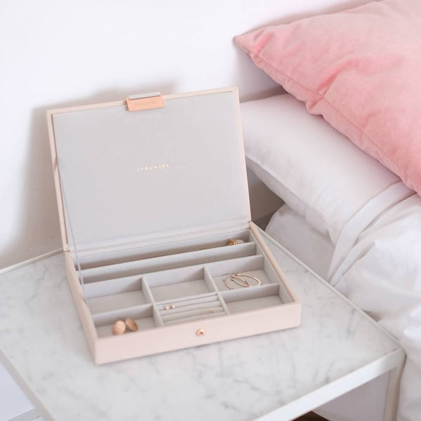Jewellery Box with Lid Medium - Blush Pink