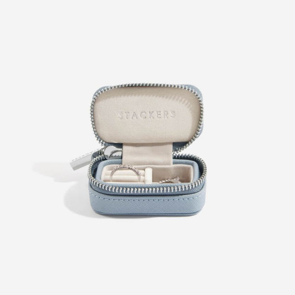 Travel Jewellery Pouch Small - Dusky Blue